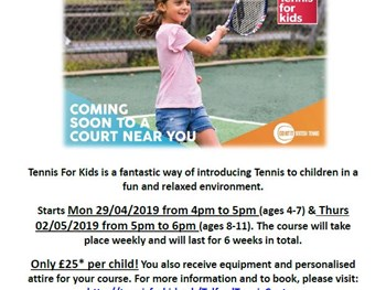 Tennis for Kids at Telford Tennis Centre