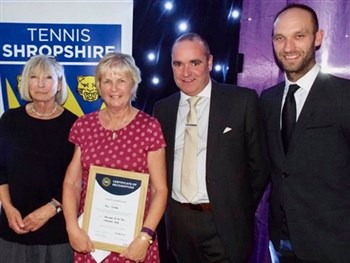 Shropshire's Pat Clarke delighted to be selected as a regional winner in British Tennis Awards