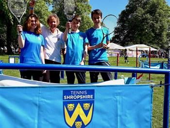 Tennis Shropshire delighted with response from youngsters at Shropshire Kids Festival