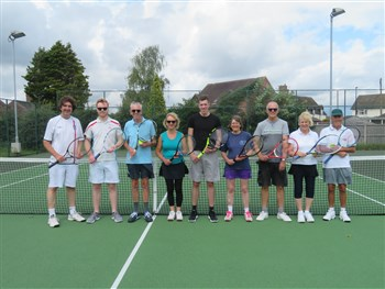 Broseley Tennis Club's post-Wimbledon American tournament is a big hit