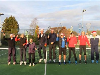 BROSELEY TENNIS CLUB PRE-CHRISTMAS MINCE PIE TOURNAMENT- A HIT!