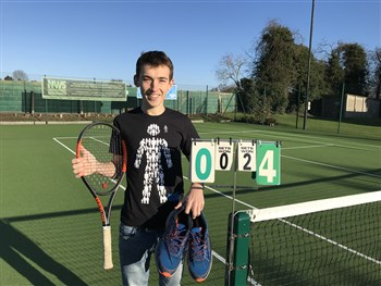 Shropshire tennis player Jordan set for 24-hour challenge ahead of running London Marathon in aid of Prostate Cancer UK
