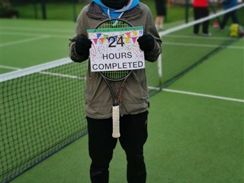 Jordan delighted with success of his 24-hour Tennisathon in aid of Prostate Cancer UK