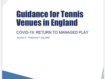 Updated guidance from the LTA for venues.